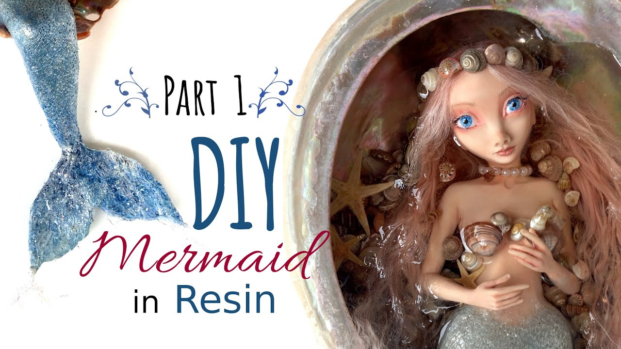 Diy Polymer Clay Mermaid Art Doll Part 1 Of 2 Sculpt