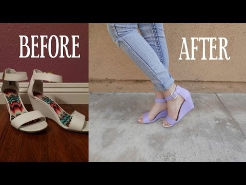 1b0e3a2c0833 HOW TO  Paint Your Shoes! - YouTube
