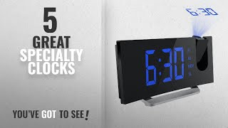 Top 10 Specialty Clocks [ Home Decor 2018 ]: Mpow Projection Clock, FM Radio Alarm Clock,