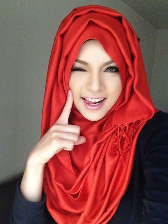 Hijab Tutorial 18 Cara Memakai Jilbab Pashmina Simple Red Black