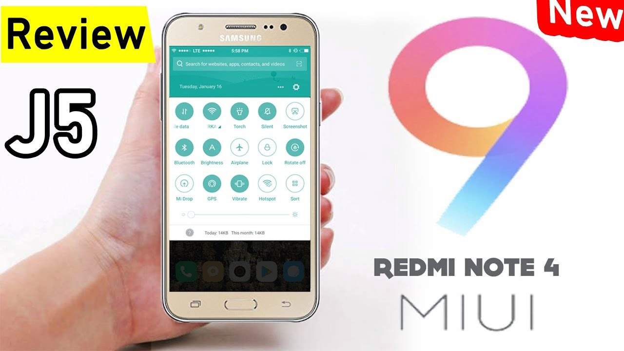 MiUi 9 Custom Rom for J5 /Samsung J5/New