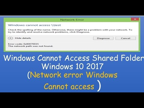 how to fix cannot access shared folder error in window 10