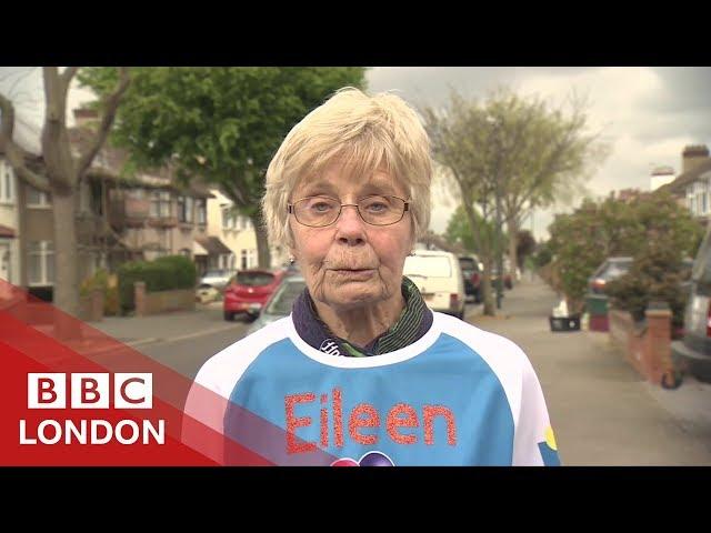 How Eileen became 2019's oldest London Marathon runner - BBC London