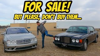 homepage tile video photo for I'm Selling 2 Terrible Cars That You Should Not Buy (Both Mechanically Totaled Themselves)
