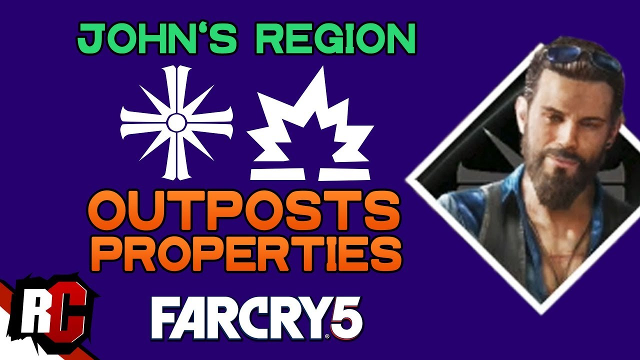 All Cult Outposts Properties In John S Region Far Cry 5 Map Locations Outposts Silos Youtube