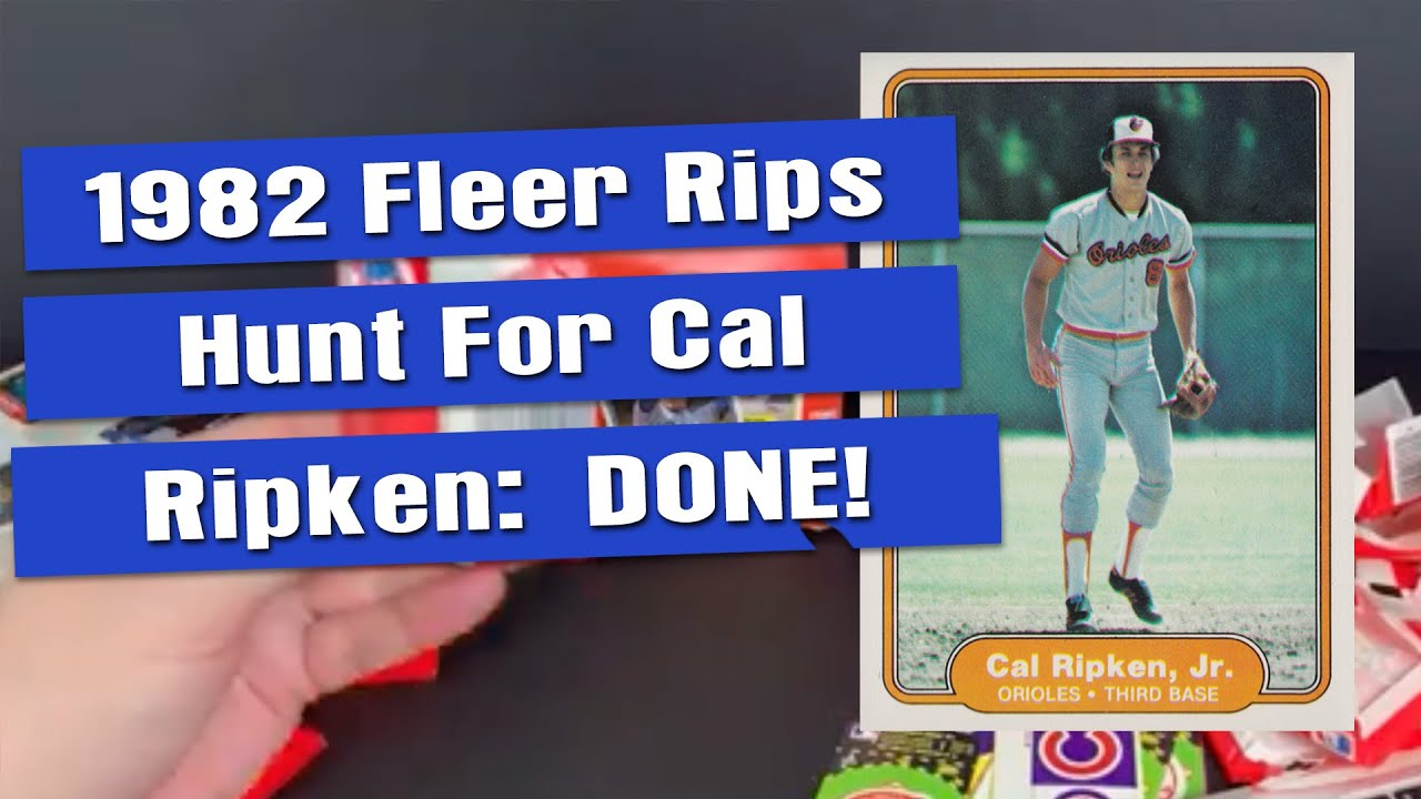 Best Ripken Rookie Ever 1982 Fleer Sealed Box Opening