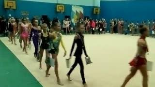 В городе Горловка прошел открытый чемпионат по художественной гимнастике