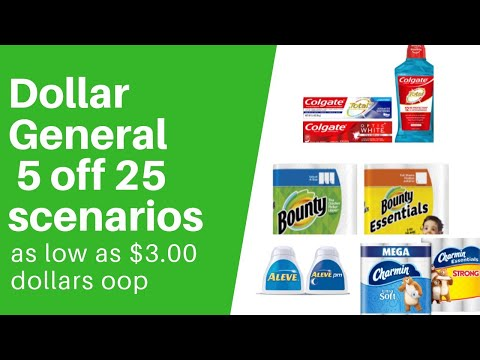Dollar General 5/25 Scenarios For 09/7..Lowest Oop $3.00 Dollars