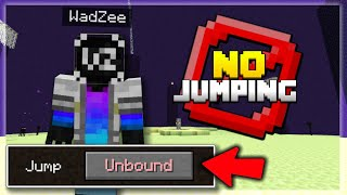 Beating MINECRAFT Without Jumping! - CHALLENGE (Part 2)