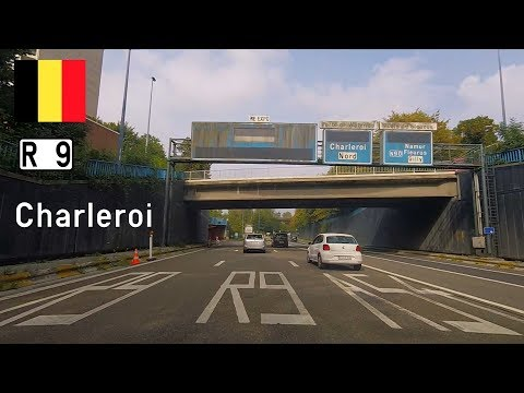 Belgium: R9 Charleroi, the one-way ring road