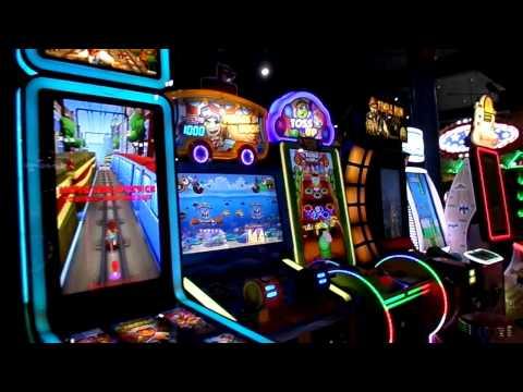 Santa Cruz Beach Boardwalk Casino Arcade FULL TOUR WALK THRU - California, September 11th, 2015
