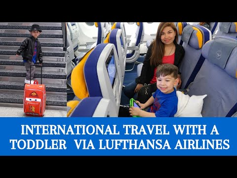 International Travel With A Toddler Lufthansa Airlines Flying From Boston To Frankfurt