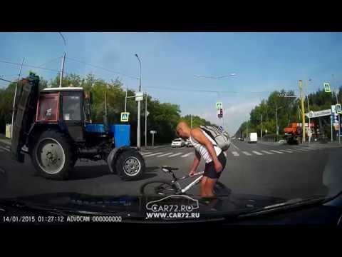 видео: Ямская - Авторемонтная, не сбил велосипедиста.