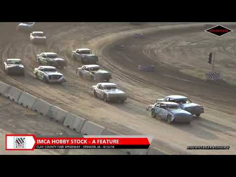 Hobby Stock Feature - Clay County Speedway - 8/12/18