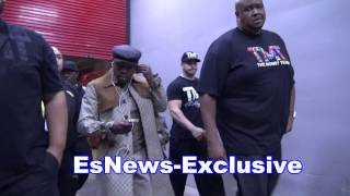 exclusive floyd mayweather arrives at manny pacquiao fight EsNews Boxing