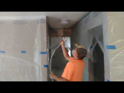 Krause and Becker airless paint sprayer demonstration
