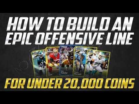"""""""MUT 25"""": How to Build an Epic Offensive Line for 20K or less in Madden 25 Ultimate Team"""