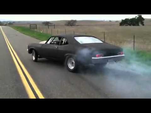 1970 Chevy nova burnout