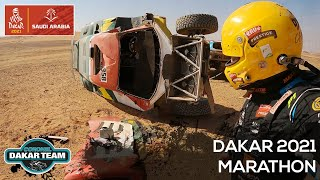 Helped a flipped car and HOW TO navigate in the Dakar Rally? Marathon stage 2021 Coronel brothers