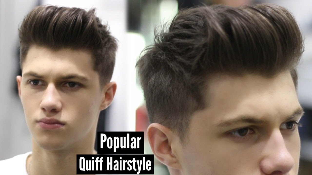 Mens Haircut 2019 Modern Quiff Hairstyle Tutorial Ad Youtube