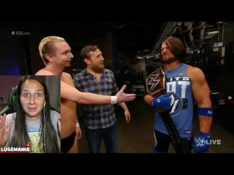 WWE Smackdown 9/13/16 AJ Styles Tag Partner James