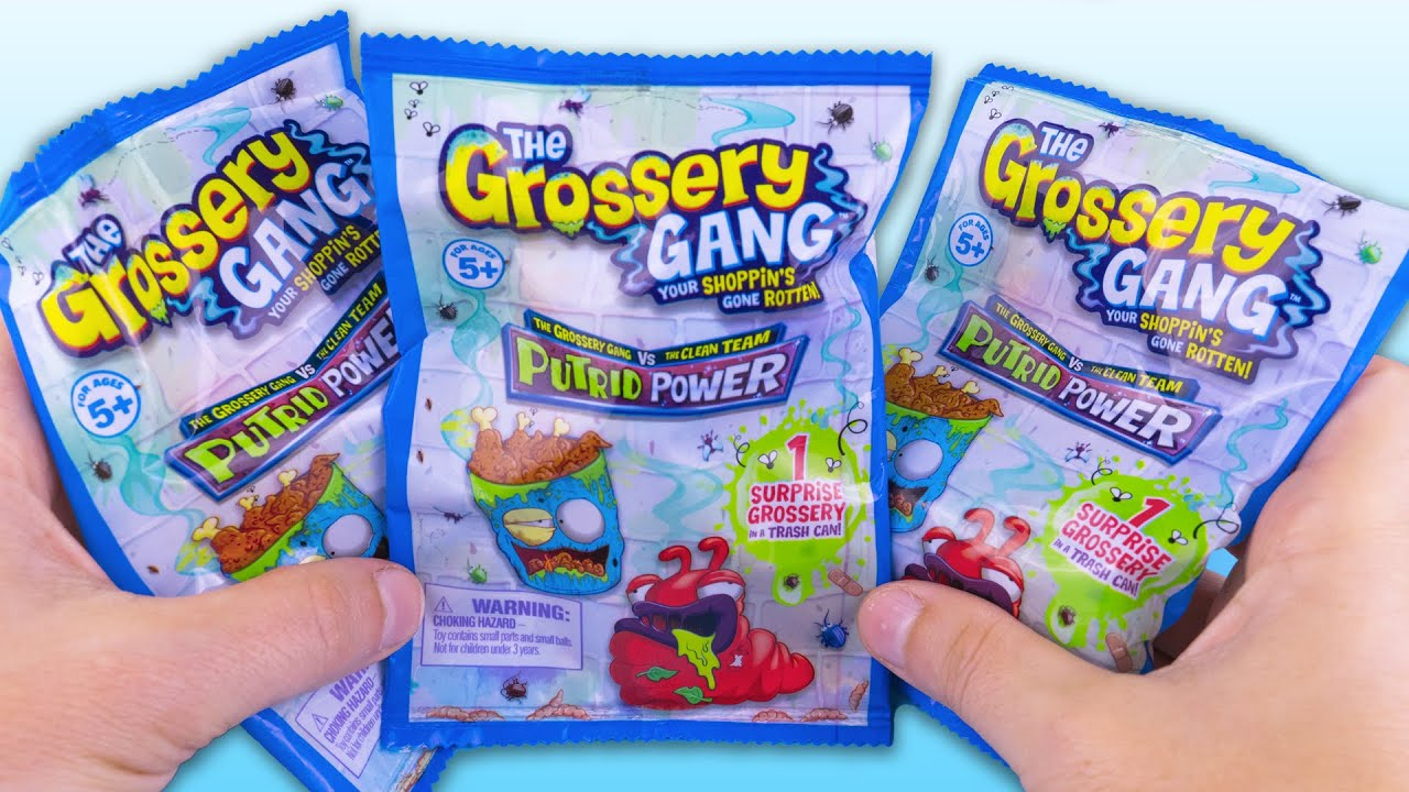 3 Surprise Bags with Trash Can Grossery Gang Series Collection