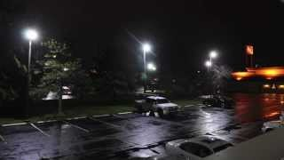 Motel 6 Grove City, Columbus, OH. Parking Lot LED Before & After Video