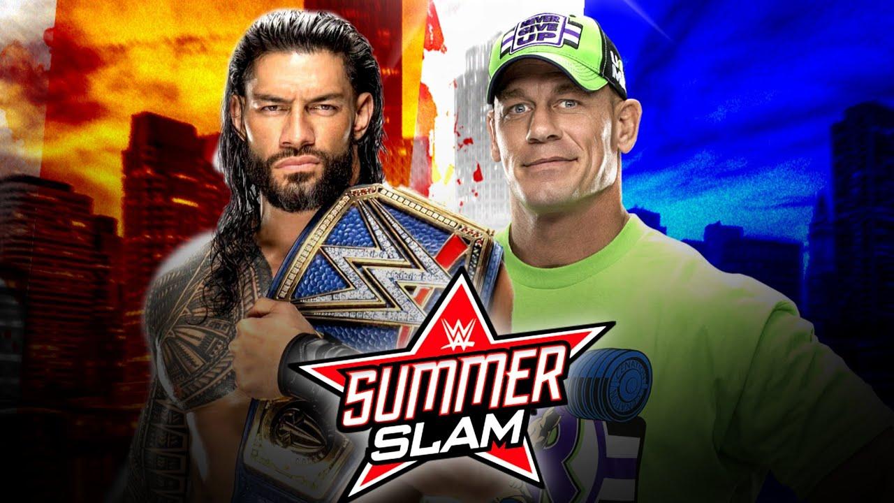 Roman Reigns vs John Cena at SummerSlam 2021 Demon Finn balor vs The Fiend  SummerSlam Date Change - YouTube