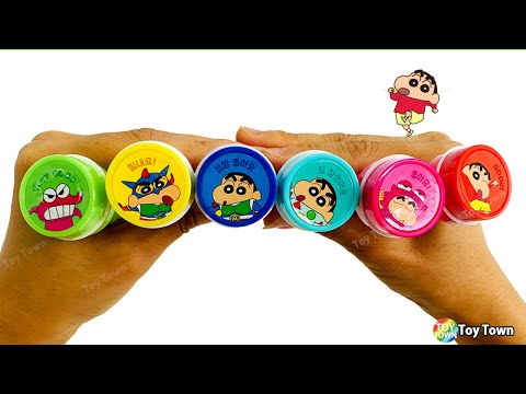 Crayon Shin Chan Stationer Ball pen, Stamp, Bubble in one pencil for kids