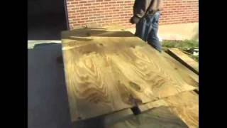 How To Build A Pergola - 3.layout Plywood For Pergola