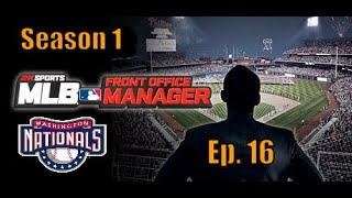 MLB Front Office Manager Washington Nationals   Ep. 16  Post Season Appearance  Thoughts