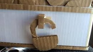 how to make a simple cardboard box lock - Young gene arts