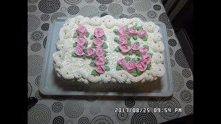 Украшение торта н аюбилей 45 лет! Маме 45 лет!