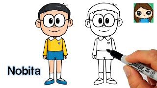 How to Draw Nobita Easy | Doraemon