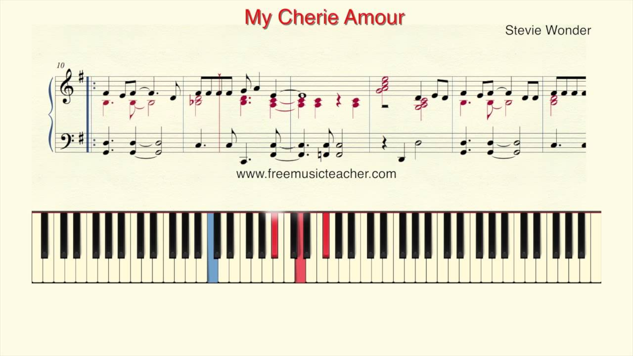 How to play piano stevie wonder my cherie amourpiano tutorial how to play piano stevie wonder my cherie amourpiano tutorial by ramin yousefi hexwebz Gallery