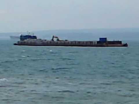 Armour Rock vessel anchored off Haldon Pier Torquay