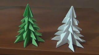 Самый простой способ Как сделать новогоднюю ЁЛКУ из бумаги