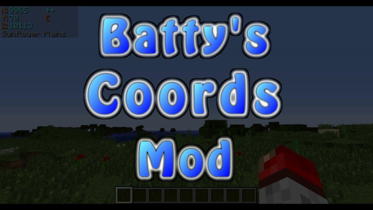 Batty's Coordinates PLUS! Mod - Mods - Minecraft - CurseForge
