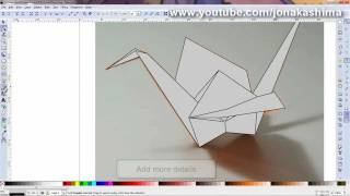 Origami Diagramming #5 - Draw over a picture