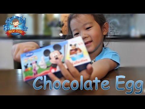 เด็กจิ๋วรีวิวของเล่นไข่ช็อกโกแลต มิกกี้เม้าส์ Chocolate Egg [W260]