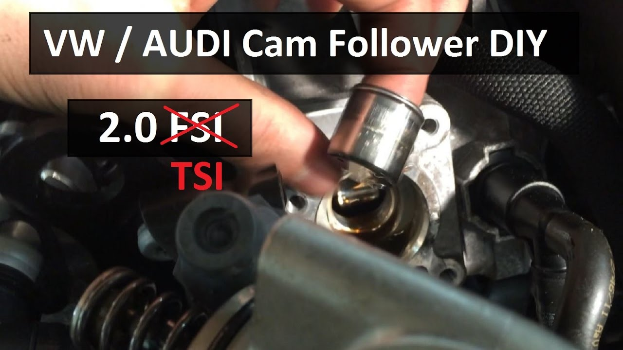 How To Check and Install Your CAM FOLLOWER, VW  AUDI 20