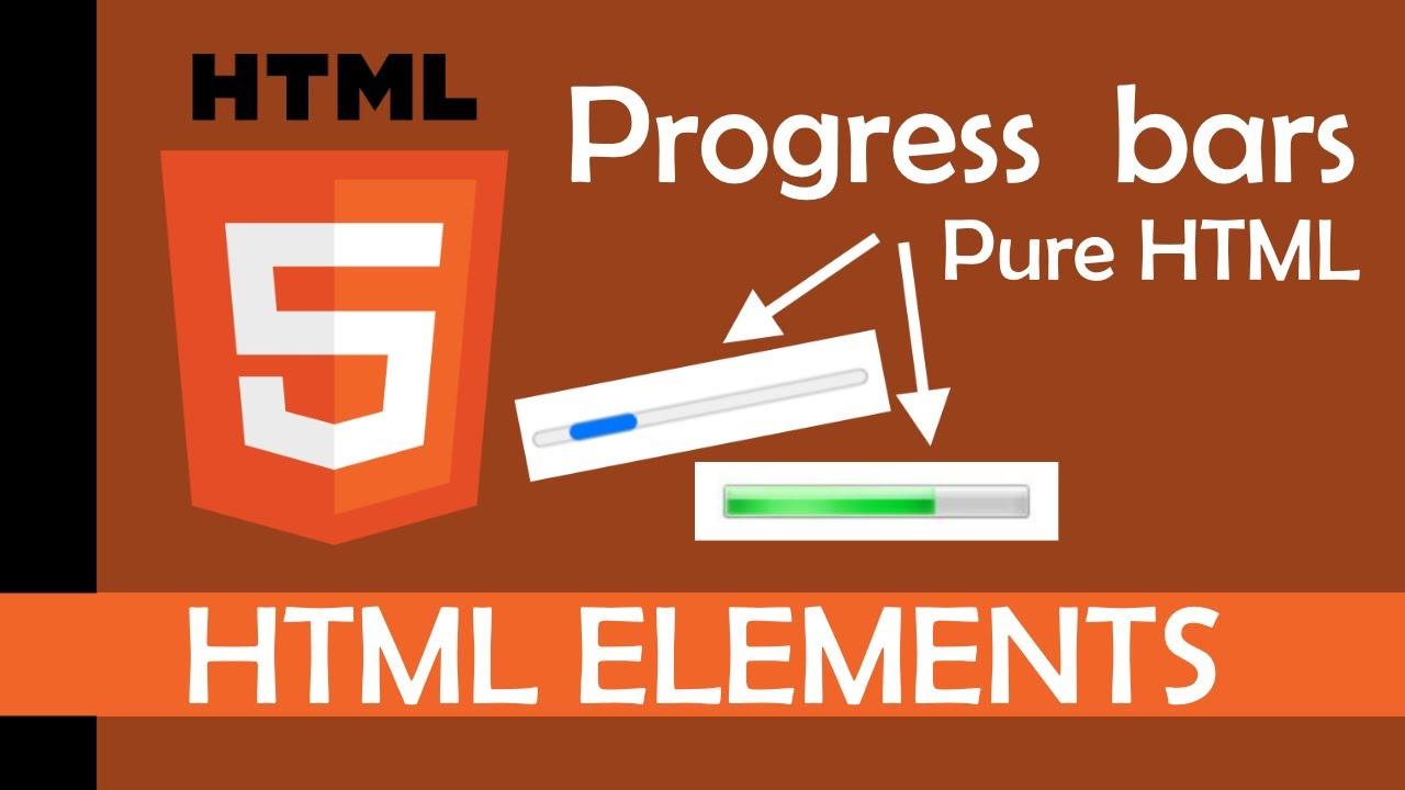 Progress bars with pure HTML