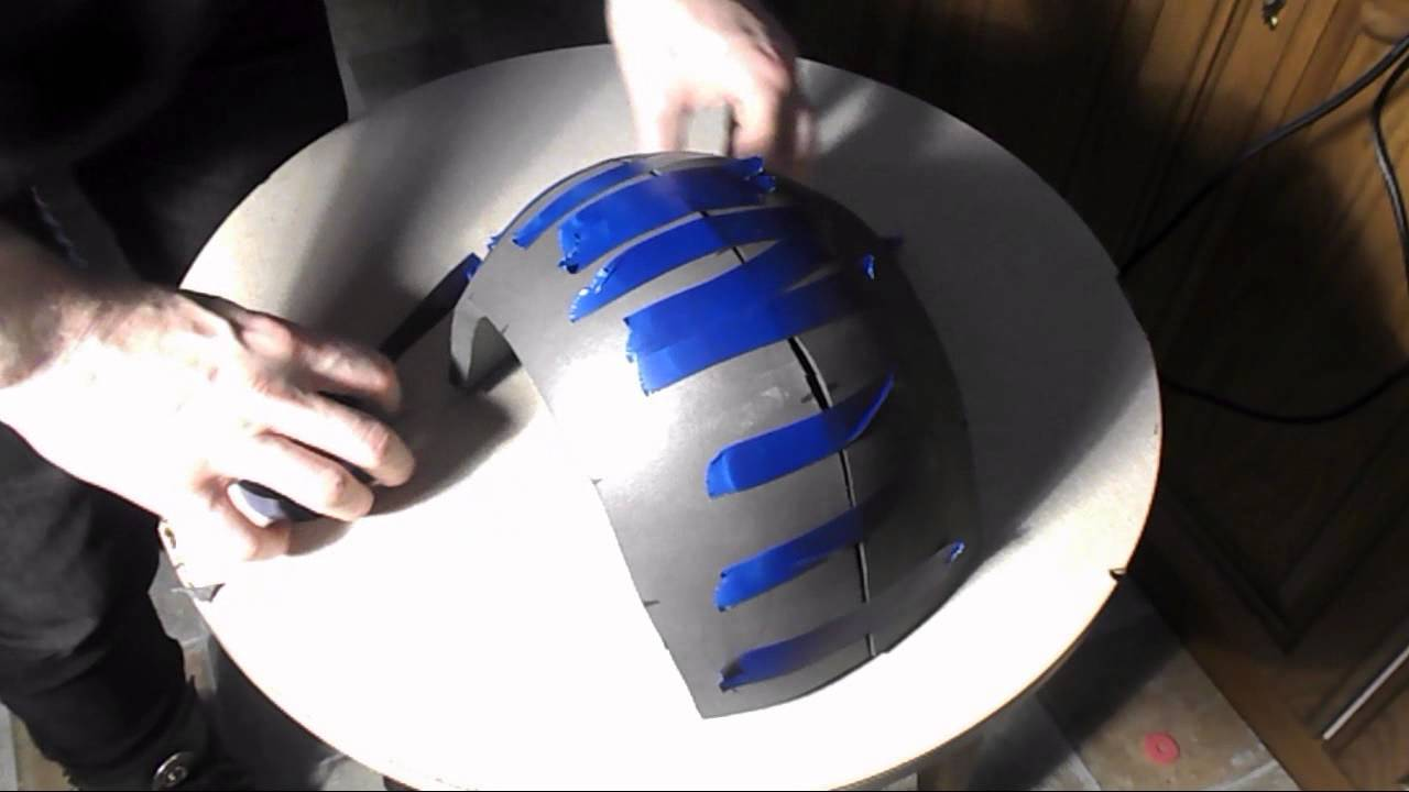 cosplay helmet part 2 build basic foam helmet youtube