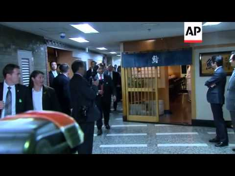 Obama meets with ambassador and Japanese PM