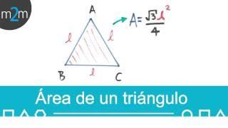 Obtener el área de un triángulo equilátero de manera general, dado su lado