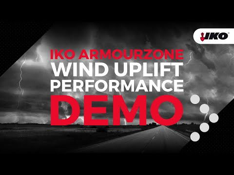 Demo of the Wind Uplift Performance of IKO's ArmourZone Shingle Products