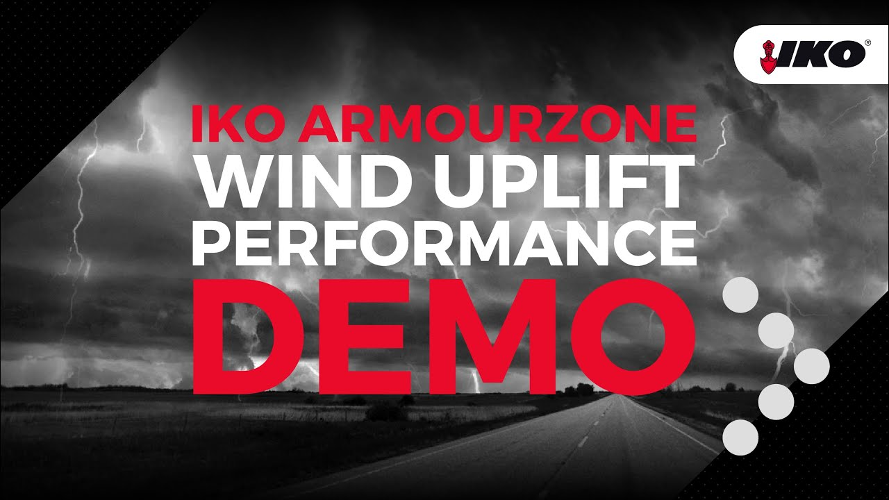Demo Of The Wind Uplift Performance Of Iko S Armourzone Shingle Products Youtube