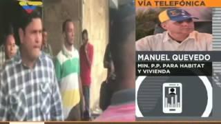 Ministro de Vivienda venezolano Manuel Quevedo sobre ataque incendiario a la institución en Chacao