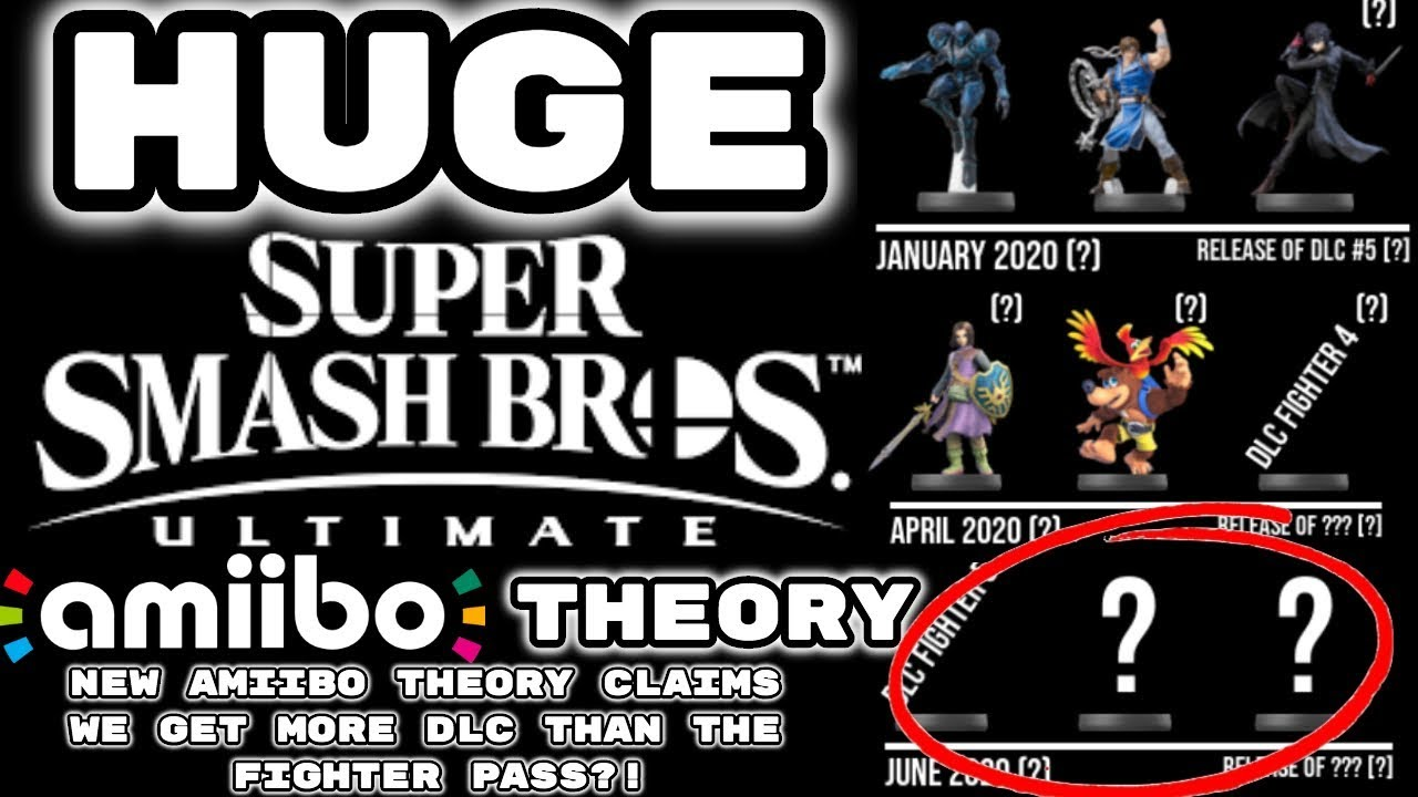 New Amiibo 2020 HUGE Smash Ultimate DLC THEORY! NEW AMIIBO THEORY CLAIMS WE GET