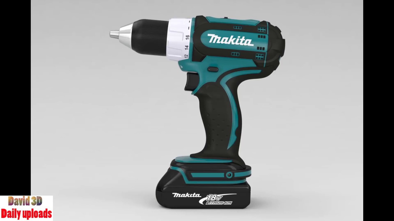 Makita cordless drill download with free 3D models